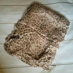 Pinkish Tan Cheetah Scarf from Express